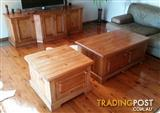 Tv stand and 2 coffee tables