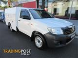 2014  TOYOTA HILUX WORKMATE TGN16R MY14 2D CAB CHASSIS