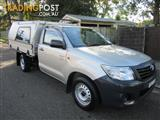 2013  TOYOTA HILUX WORKMATE TGN16R MY12 2D CAB CHASSIS