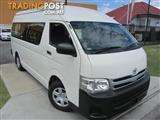 2012  TOYOTA HIACE COMMUTER HIGH ROOF S KDH223R MY12 BUS
