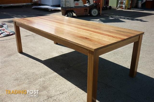 QUEENSLAND HARDWOODSPOTTED GUM IROMBARK TIMBERS 2400 X 1200 DINING TABLE