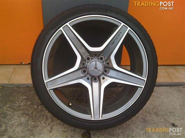 Mercedes amg c63 18 inch stg genuine alloy wheels for sale for Mercedes benz amg rims for sale