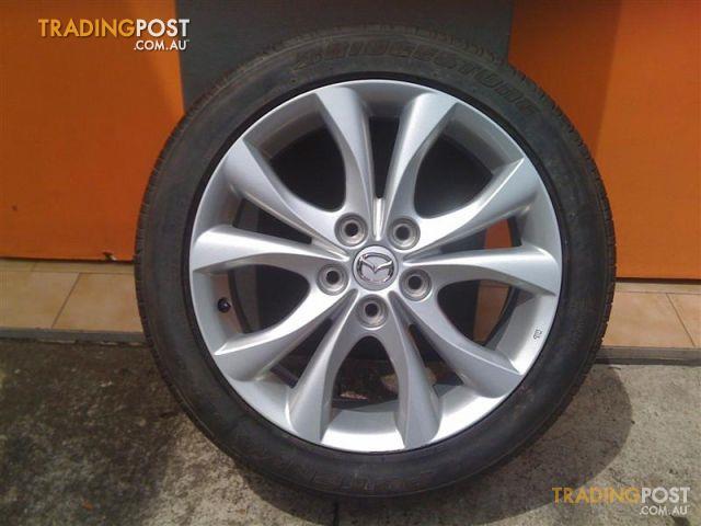 mazda sp25 17 inch genuine alloy wheels for sale in carramar nsw mazda sp25 17 inch genuine. Black Bedroom Furniture Sets. Home Design Ideas