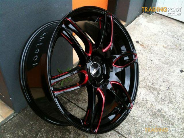 King Camino Black Piped Red 20 Inch Alloy Wheels For Sale