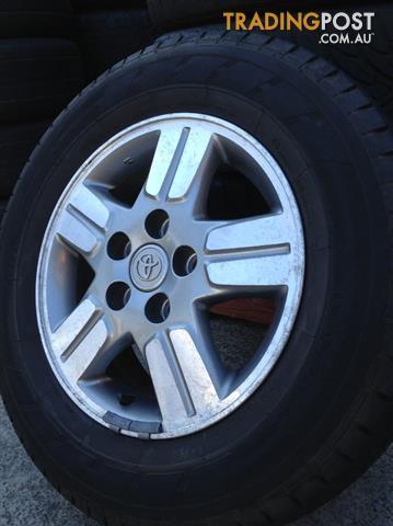 Toyota Hilux Sr5 4x2 15inch Genuine Alloy Wheels Amp Tyres