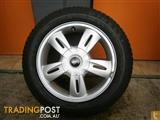 WHEELS & TYRES MINI COOPER 15 INCH GENUINE ALLOY