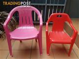 Two plastic chairs for kids