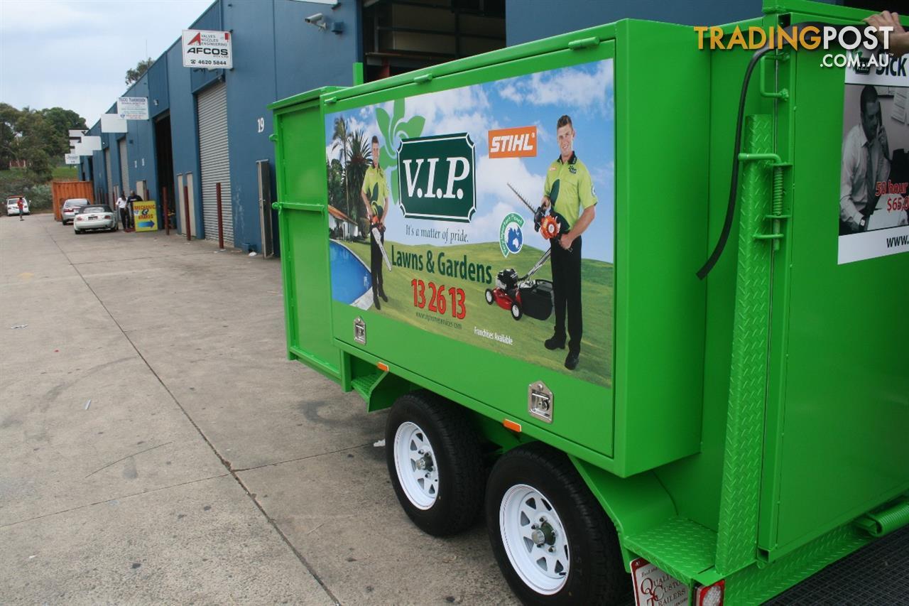 Custom lawn mowing trailers for sale in minto nsw custom for Garden maintenance trailer