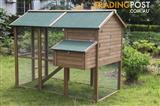 New Rabbit Chicken Guinea Pig Ferret Hutch House Cage Coop * ED05