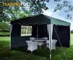 3x3m Gazebo Folding Market Party Tent Marequee Canopy Shade*Green
