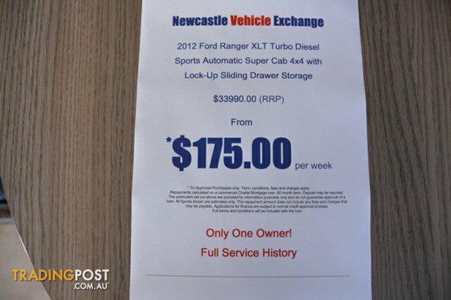 2012 Ford Ranger XLT Super Cab PX Utility