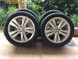 "20"" GENUINE FACTORY MERCEDES BENZ ML500 / R / GL CLASS W164 WHEELS & TYRES"