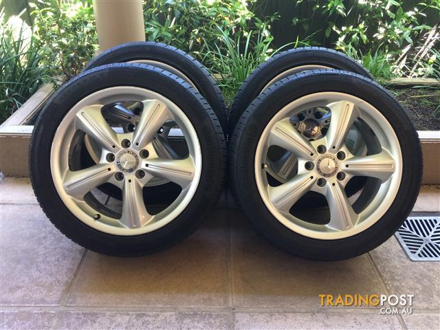 "17"" GENUINE FACTORY MERCEDES BENZ C-CLASS W203 / SLK W171 / CLK W209 & TYRES"