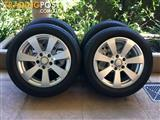 "16"" GENUINE FACTORY MERCEDES BENZ C-CLASS W204 WHEELS & 85% BRIDG (2007-2014)"