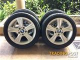 "17"" GENUINE FACTORY BMW 1-SERIES 125i / 3-SERIES E46 WHEELS & 95% 225 45 R17"