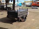 7x4 heavy duty  box trailer with lid