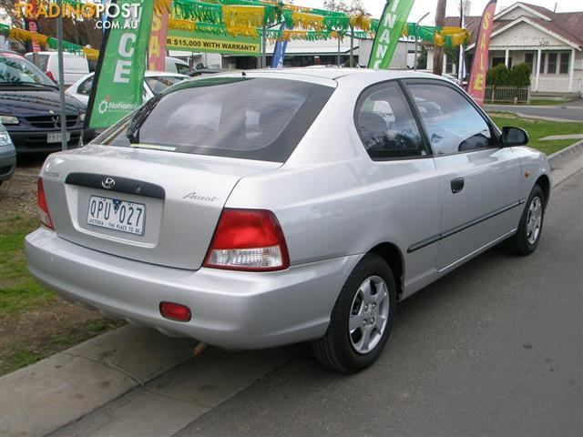 2000 hyundai accent gl lc 3d hatchback for sale in bendigo. Black Bedroom Furniture Sets. Home Design Ideas