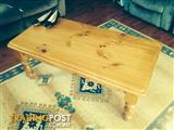 COFFEE TABLE, PINE, AS NEW, HAVE HAD ONLY FOR A YEAR