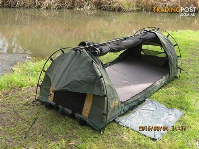 XL King Single Swag Camping Swag Canvas Tent Dome Style ...