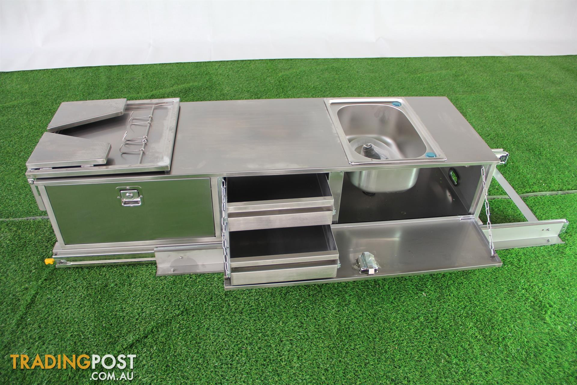 Stainless steel camper trailer slide out kitchen 2 for Kitchen drawers for sale