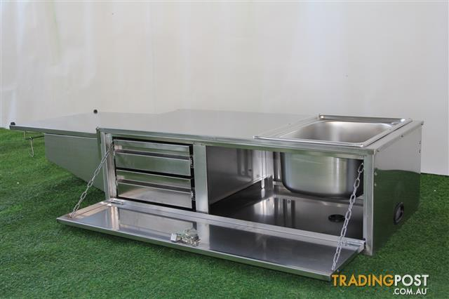 Stainless steel camper trailer kitchen 2 drawers sink for Kitchen drawers for sale