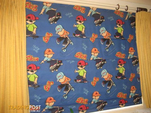 Blue with pattern Fabric Blind