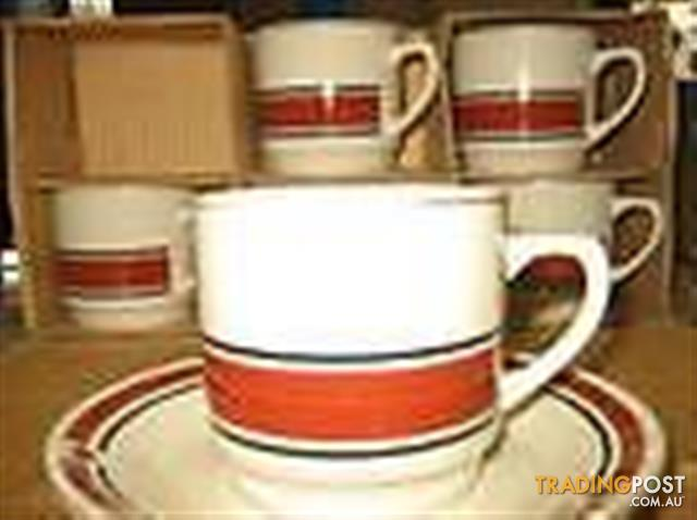 Vintage 12 TEACUPS WITH SAUCERS- $48 all