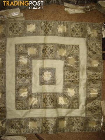 8 Cushion Cover - Pearl Blue and 3 tassels at each corner