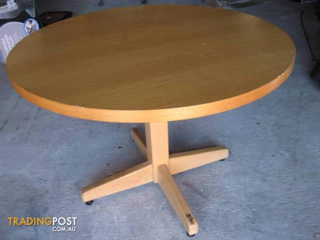 Vintage Wood Round Dining Table- table only
