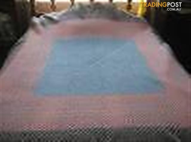 BIG CROCHET BLANKET - HAND MADE - VERY WARM - 250cmx240cm