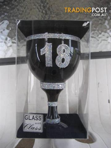 Pimp Cup 18th Birthday Huge Drinking Glass Goblet Gift