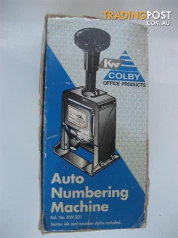 KW by Colby KW Auto Numbering Machine CHROME Ref No.KW-201
