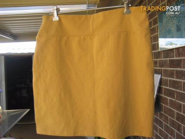 NEW Skirt cotton on - size large - Mustard Yellow Colour