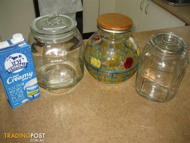 4 Large Glass Jars All for $100