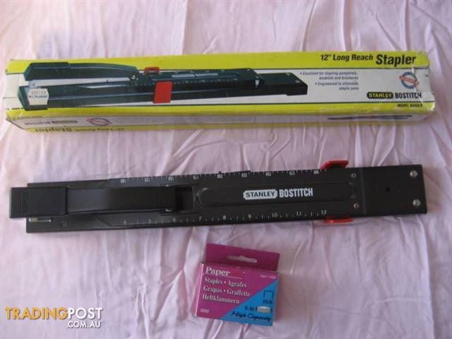 12'' Long Reach Stapler Model B440LR And Box Paper Pro