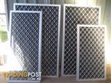 ALUMINIUM SECURITY DIAMOND GRILLES - 8 WINDOW'S