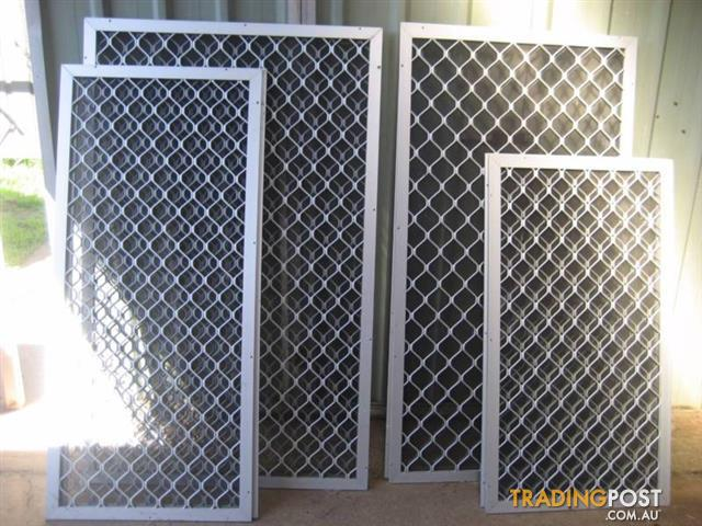 ALUMINIUM SECURITY DIAMOND GRILLES - 8 WINDOW'S