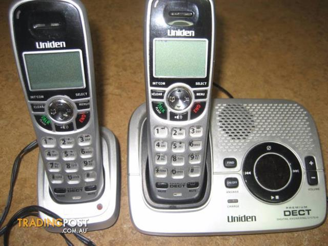 UNIDEN 6.0 DIGITAL CORDLESS PHONE DECT 2035+1 CALLER ID 2 HANDSET