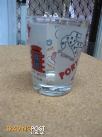 TASILE SOUVENIRS PORT ARTHUR SMALL GLASS CUP