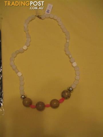 3 Strands Pearls and Crystals Necklace - USA
