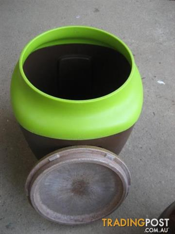 Big plastic and Ceramic container $20 both