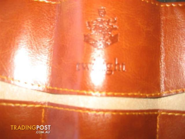 2 Twilight crest leather look pencil case wallet make up pouch