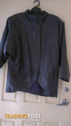 Vintage 80's leather Jacket - Genuine - Sz 16 -18