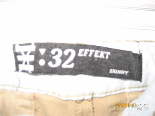 Men Pant 32 EFFEKT SKINNY sz 32 98% cotton 2%Elastane