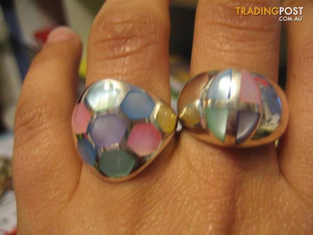 Tow Silver Rings -925 Both For $110