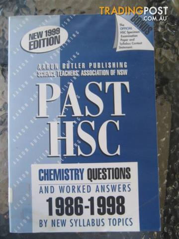 PAST HSC CHEMISTRY QUESTIONS******1998 by NEW SYLLABUS TOPICS