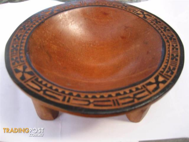 Small Hawaii Pacific CARVED WOOD KAVA BOWL