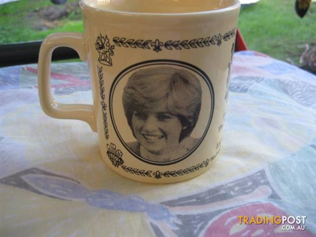 1981 Princess Diana & Prince Charles Wedding ironstone mug