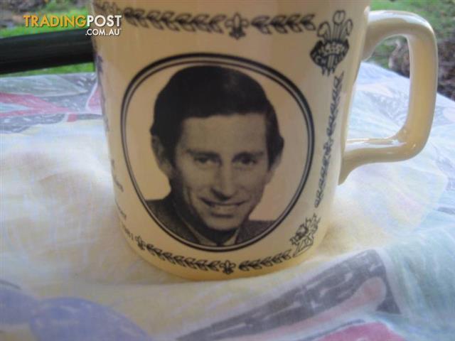 1981 Princess Diana & Prince Charles Wedding ironstone mug