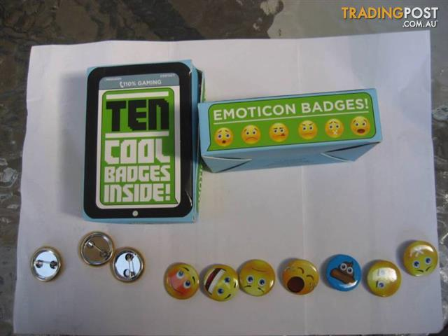 2 Box - Ten Cool Badges each - UK -$10 Both